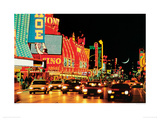 Fremont Street, Las Vegas Giclee Print by Mitchell Funk