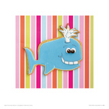 Whooshy Whale Giclee Print by Lauren Floodgate