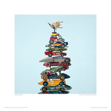 Super Hero High Performance Stack Giclee Print by Jeremy Dickinson