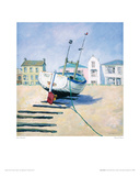 Moored Boat Giclee Print by Jane Hewlett