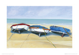 Beach Boats, St Ives Giclee Print by Jane Hewlett