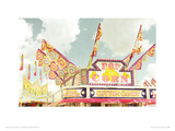 Pop Corn Stall Giclee Print by Zee Longenecker