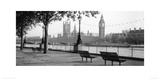 Houses Of Parliament And The River Thames Giclee Print by Anon