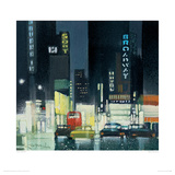 Night On Broadway Giclee Print by Xavier Carbonell