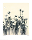White Flowers Giclee Print by Hans Andkjaer