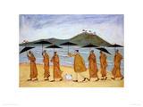 The Seven Umbrellas of Enlightenment Giclée-Druck von Sam Toft