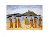 The Seven Umbrellas of Enlightenment Giclee Print by Sam Toft
