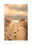 Footprints In The Sand Giclee Print by Jane Vollers