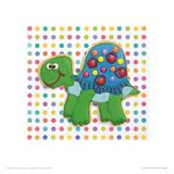 Trundling Tortoise Giclee Print by Lauren Floodgate