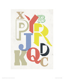 Broken Alphabet Reproduction procédé giclée par Anthony Peters