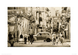 Havana Street, Cuba Reproduction proc&#233;d&#233; gicl&#233;e par Lee Frost