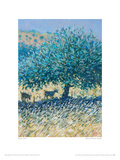 Goats And Olives, Rhodes Giclee Print by Robert Jones