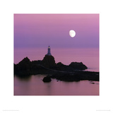 Moon over Corbiere Lighthouse, Jersey Giclee Print by Tom Mackie