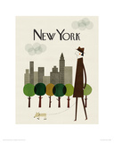 New York Reproduction procédé giclée par Blanca Gomez