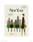 New York Reproduction procédé giclée par Blanca Gomez