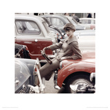 Model & Car, Vogue October 1959 Giclee Print by Norman Parkinson