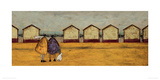 Looking Through The Gap In The Beach Huts Giclee Print by Sam Toft