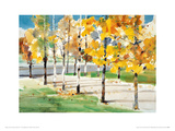Autumn Trees Giclee Print by Law Wai Hin