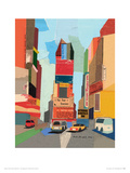 Times Square, NYC Giclee Print by Andy Burgess