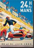 Le Mans 20 et 21 Juin 1959 Reproduction sur toile tendue par  Beligond