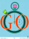 2012 Olympics-Michael Craig-Martin -GO Poster by Michael Craig-Martin