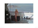 New Horizons, Passing Capri Giclee Print by Douglas Gray