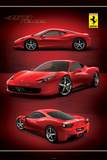 Ferrari 458-Italia Kunstdruck