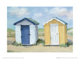 Two Beach Huts Giclee Print by Jane Hewlett