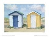 Two Beach Huts Giclee Print by Jane Hewlett