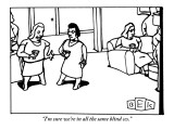 """""""I'm sure we're in all the same blind ccs."""" - New Yorker Cartoon Premium Giclee Print by Bruce Eric Kaplan"""