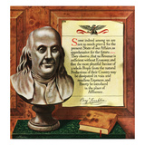 """Benjamin Franklin - Bust and Quote"", January 19, 1952 Giclee Print by John Atherton"