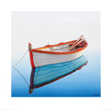 Boat in a Tranquil Bay Giclee Print by Horacio Cardozo