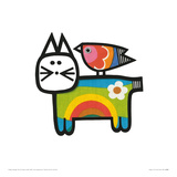 Happy Cat Reproduction procédé giclée par Jane Foster