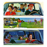 """Before, During & After Picnic"", September 5, 1959 Giclee Print by John Falter"