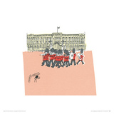 They're changing guard at Buckingham Palace II Giclee Print by Susie Brooks