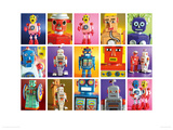 Robot Metropolis Giclee Print by Howard and Lauren Shooter and Floodgate