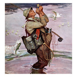 """The Fish are Jumping"", May 19, 1951 Gicleetryck av Mead Schaeffer"