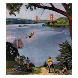 """San Francisco Bay Boys"", May 26, 1956 Giclee Print by John Falter"