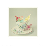 Cup of Butterflies Giclee Print by Cassia Beck