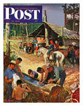 """""""Dude Ranch Meal"""" Saturday Evening Post Cover, July 29, 1950 Giclee Print by John Clymer"""