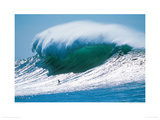 Sebastien Saint Jean, Surfing Belhara Giclee Print by Eric Chauche