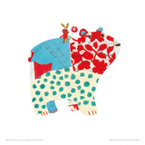 Big Bear, Little Bunny Giclee Print by Sarah Battle