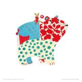 Big Bear, Little Bunny Giclee Print by Sarah Battle