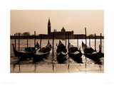 Gondolas, Venice Giclee Print by Anon 