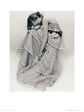 Tiered Evening Dress, March, 1951 Giclee Print by Norman Parkinson