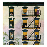"""Apartment Clarinetist"", April 19, 1958 Giclee Print by John Falter"