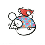 Happy Mice Lámina giclée por Jane Foster