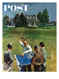 """Imminent Domain"" Saturday Evening Post Cover, July 18, 1959 Giclee Print by John Falter"