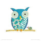 Big Owl, Little Snail Giclee Print by Sarah Battle