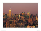 Manhattan Skyline Giclee Print by Richard Berenholtz